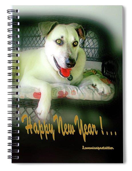 Happy New Year Art  Spiral Notebook
