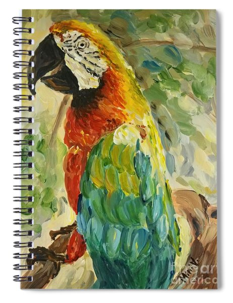 Happy Parrot Spiral Notebook