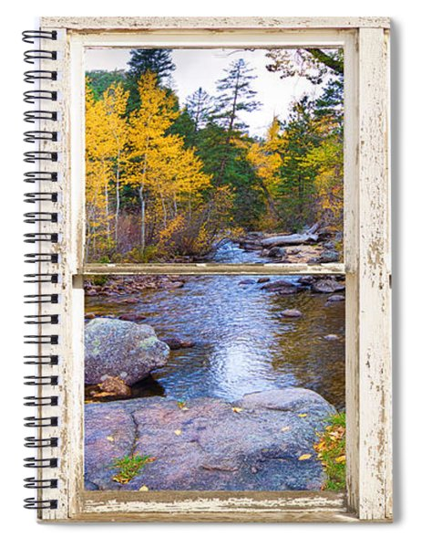 Happy Place Picture Window Frame Photo Fine Art Spiral Notebook