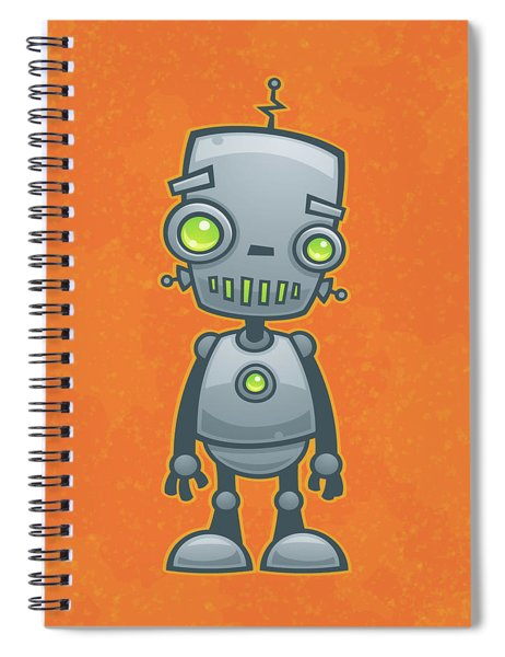 Happy Robot Spiral Notebook