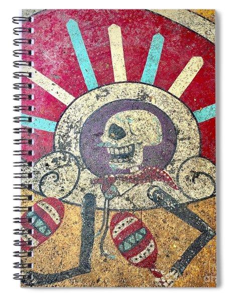 Happy Skull Spiral Notebook