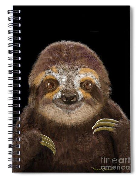 Happy Three Toe Sloth Spiral Notebook