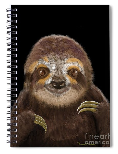 Happy Three Toe Sloth Spiral Notebook