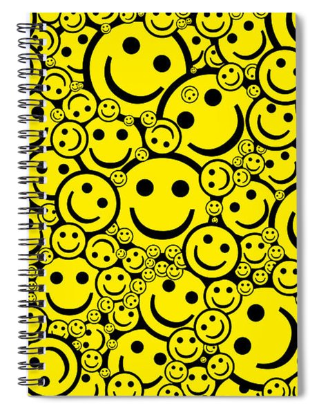 Happy Smiley Faces Spiral Notebook