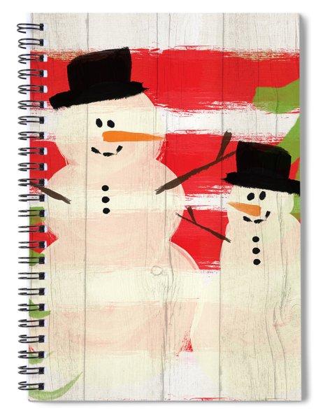 Happy Snowmen- Art By Linda Woods Spiral Notebook