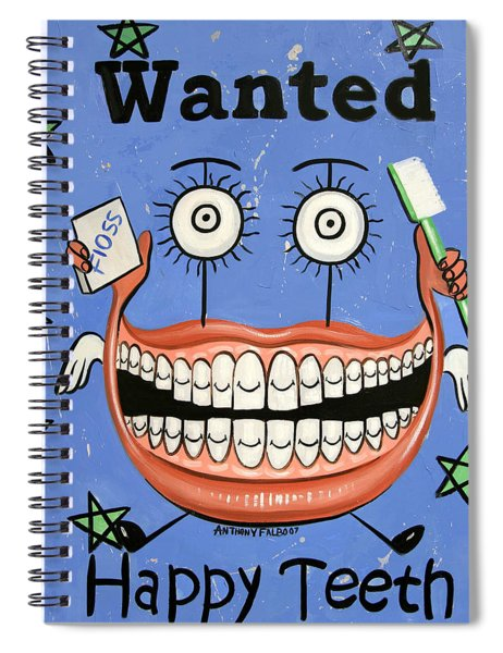 Happy Teeth Spiral Notebook