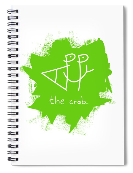 Happy The Crab - Green Spiral Notebook