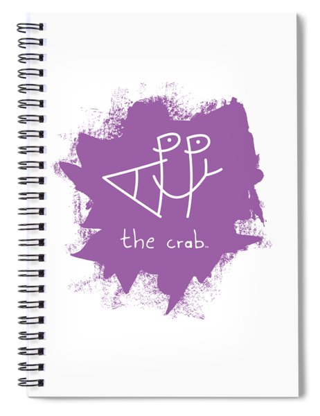 Happy The Crab - Purple Spiral Notebook