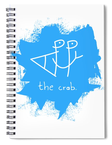 Happy The Crab - Blue Spiral Notebook