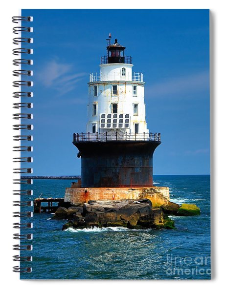 Harbor Of Refuge Lighthouse Spiral Notebook