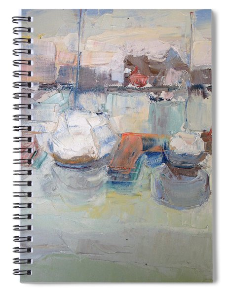 Harbor Sailboats Spiral Notebook