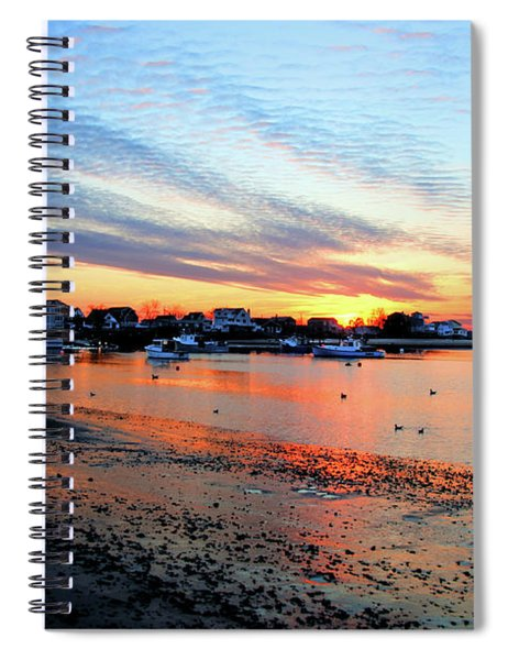 Harbor Sunset At Low Tide Spiral Notebook