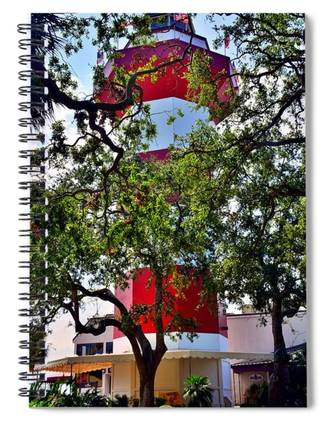 Harbour Town Lighthouse Spiral Notebook by Lisa Wooten