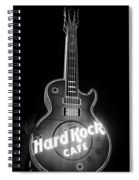 Hard Rock Cafe Sign B-w Spiral Notebook