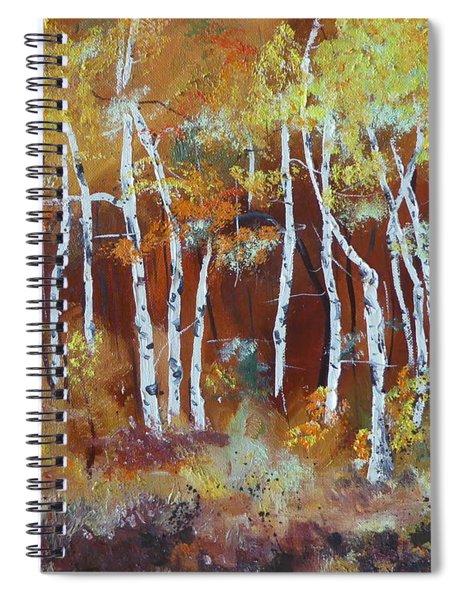 Harding Way  Aspens Dancing Spiral Notebook