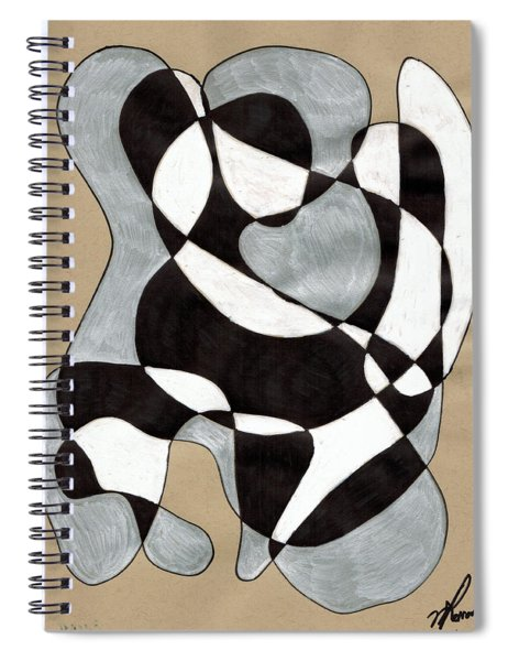 Harlequin Abtracted Spiral Notebook