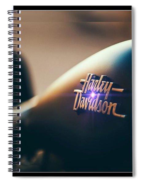 Harley Davidson Cycle Spiral Notebook