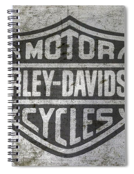 Harley Davidson Logo On Metal Spiral Notebook