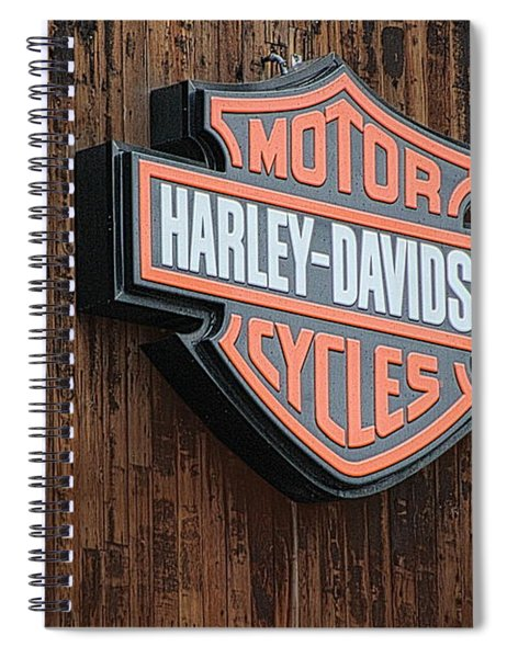 Harley Davidson Sign In West Jordan Utah Photograph Spiral Notebook