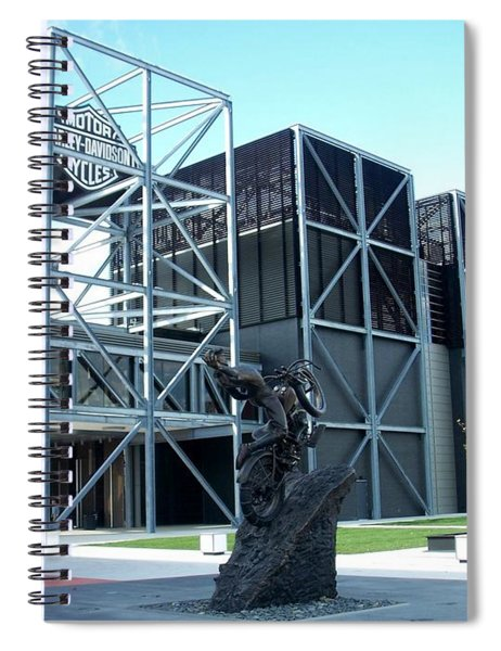 Harley Museum And Statue Spiral Notebook