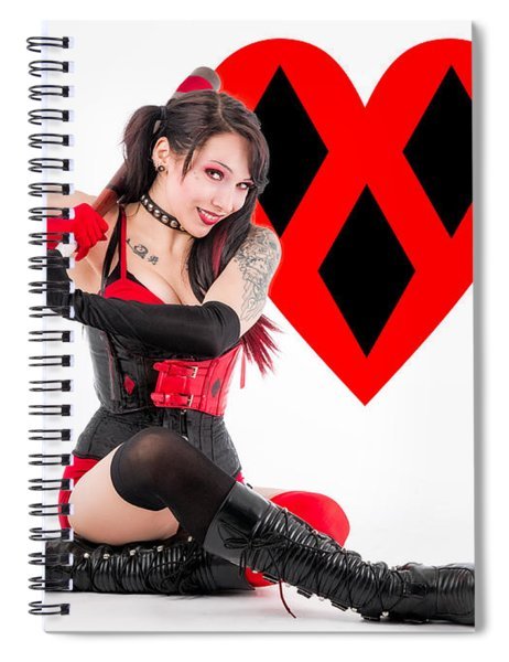 Harley Quinn Ready To Swing Spiral Notebook