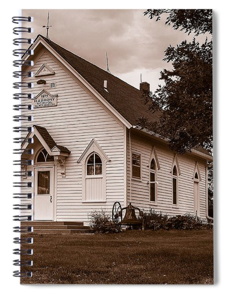 Spiral Notebook featuring the photograph Harmony School by Edward Peterson