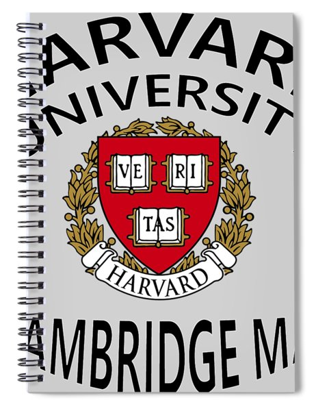 Spiral Notebook featuring the digital art Harvard University Cambridge M A  by Movie Poster Prints