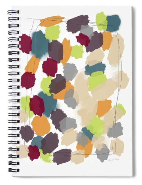 Harvest Day- Abstract Art By Linda Woods Spiral Notebook