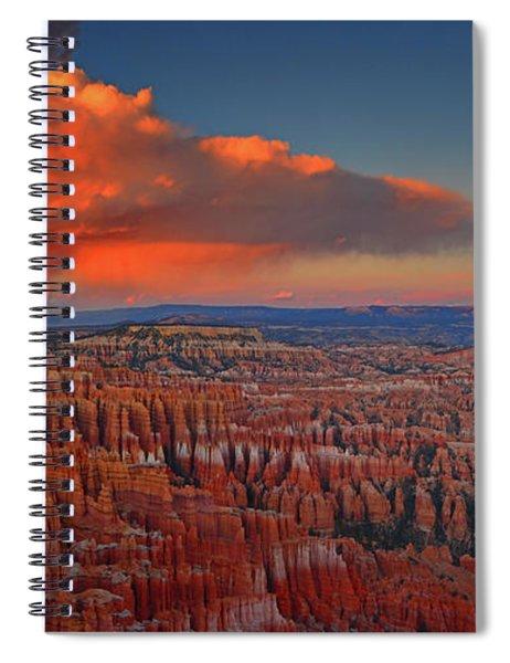 Harvest Moon Over Bryce National Park Spiral Notebook