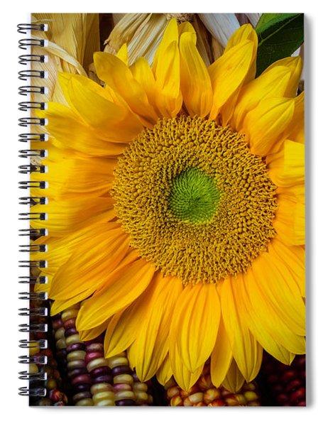 Harvest Sunflower Spiral Notebook