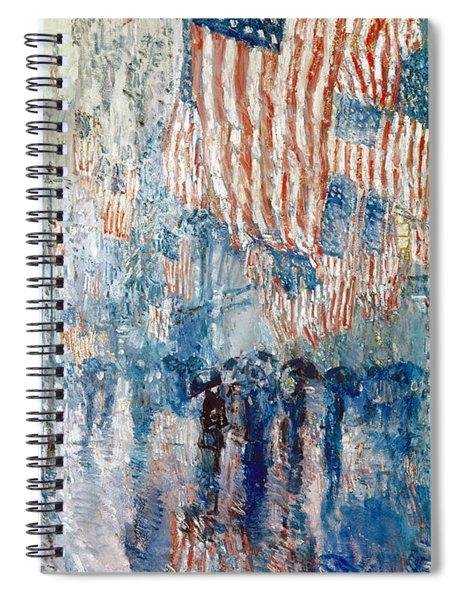 Hassam Avenue In The Rain Spiral Notebook