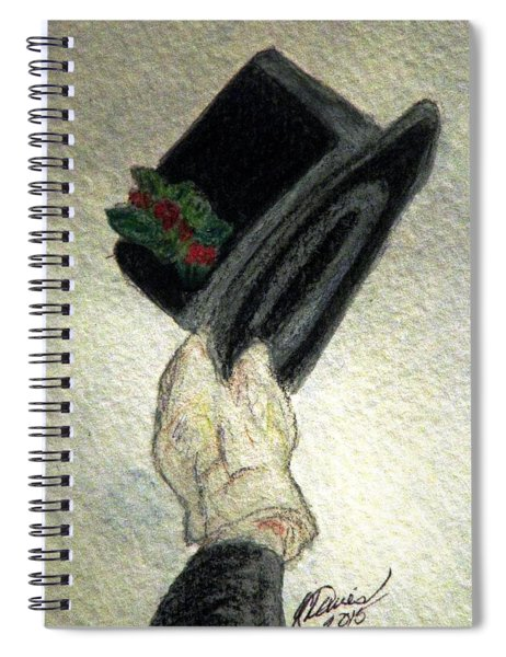 Hats Off To The Holidays Spiral Notebook