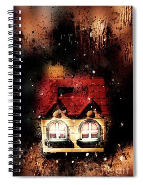 Haunted Doll House Spiral Notebook