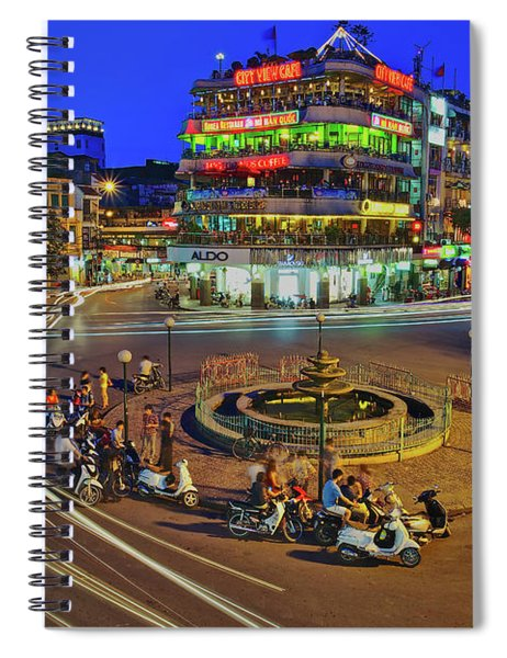 Having A Finger Licking Good Time In The Old Quarter In Hanoi, Vietnam, Southeast Asia Spiral Notebook