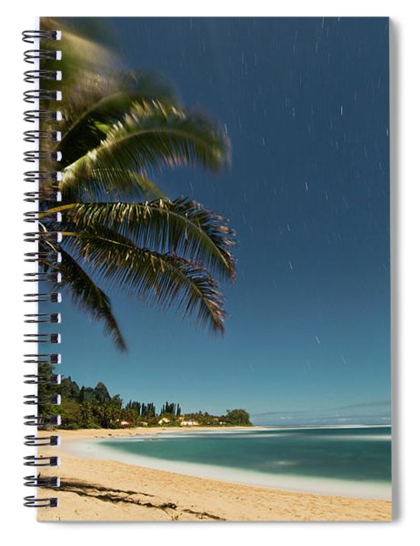Hawaii Moonlit Beach Wainiha Kauai Hawaii Spiral Notebook