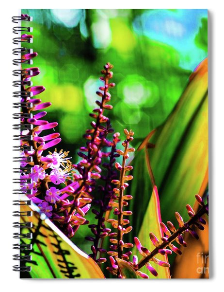 Hawaii Ti Leaf Plant And Flowers Spiral Notebook