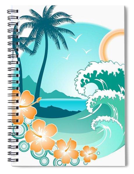 Hawaiian Island 1 Spiral Notebook
