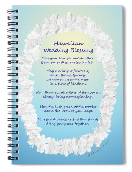 Hawaiian Wedding Blessing Spiral Notebook