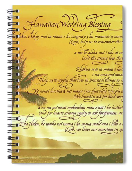 Hawaiian Wedding Blessing-sunset Spiral Notebook