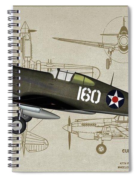 Hawk 160 - Profile Art Spiral Notebook