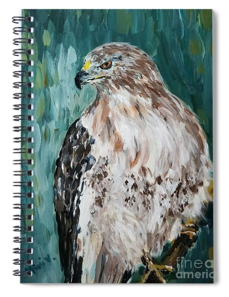 Hawk Spiral Notebook by Maria Langgle