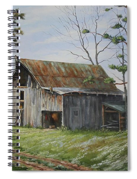 Hawks At The Barn Spiral Notebook