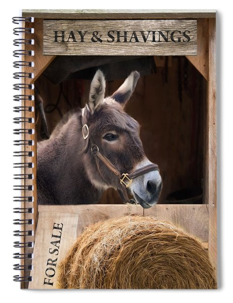 Hay And Shavings Spiral Notebook