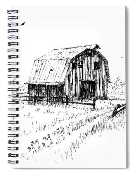 Hay Barn With Broken Gate Spiral Notebook
