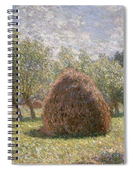Haystacks At Giverny Spiral Notebook
