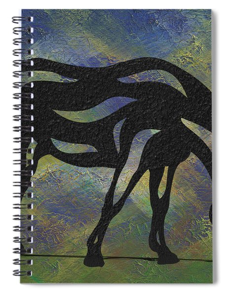 Spiral Notebook featuring the painting Hazel - Abstract Horse by Manuel Sueess