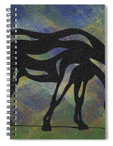 Hazel - Abstract Horse Spiral Notebook by Manuel Sueess