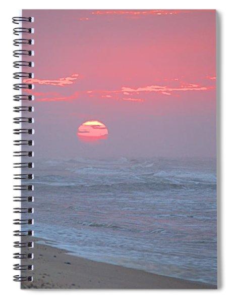 Hazy Sunrise I I Spiral Notebook