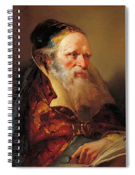 Head Of A Philosopher Spiral Notebook