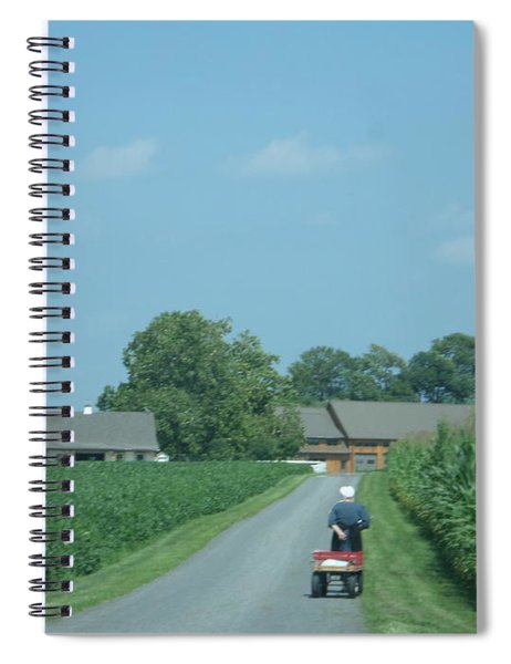 Heading Home From The Market Spiral Notebook